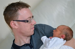 DAZZA AND JAMES (simongavin83) Tags: boy sleeping people baby man love holding persons care