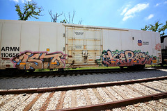 (o texano) Tags: bench graffiti texas houston trains isto amfm freights kerse benching