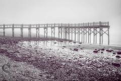 foggy (Singing With Light) Tags: morning 2 beach fog photography pier gulf pentax january february k3 2014 ctwinter gulfbeach miilford singingwithlight singingwithlightphotography