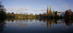Germany (richard.mcmanus.) Tags: panorama church germany pond cathedral historic lubeck mcmanus
