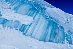 Layers and layers of ice (wesbl) Tags: travel italy ski france alps switzerland europe skiing geneva backcountry chamonix montblanc offpiste backcountryskiing chamonixmontblanc