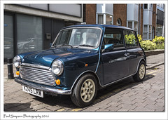 Classic Mini K249 LRW (Paul Simpson Photography) Tags: uk cars car sunshine classiccar mini icon lincoln motor iconic 1990s classiccars britishcar motorcar smallcar rovermini photosof imageof photoof britishicon imagesof sonya77 paulsimpsonphotography april2016 k249lrw