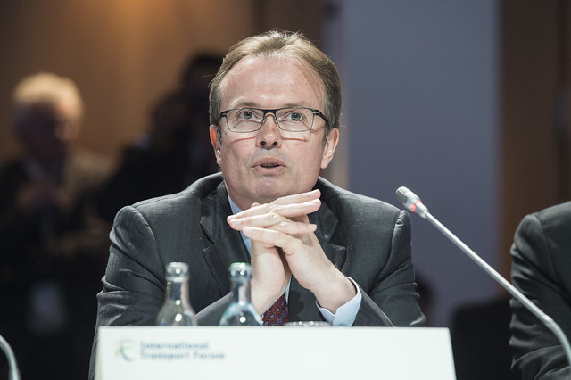 Laurent Troger particpating at the Open Ministerial Session