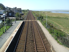 As far as the eye can see. View from the station at Kirkby-in-Furness. (Bennydorm) Tags: england rural coast view platform rail railway railwaystation cumbria kirkby furness railwaylines kirkbyinfurness