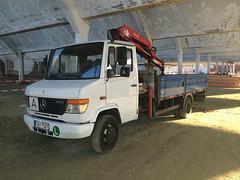 MB Vario 814D (Vehicle Tim) Tags: truck mercedes kran mb fahrzeug lkw vario pritsche