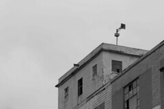 Buildings and Siren B&W (christopher_harness) Tags: blackandwhite bw building brick abandoned buildings outdoors blackwhite downtown outdoor siren greyscale