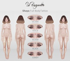 [La Baguette] Shaya Full Body Tattoo at The Showroom (Aristas.Resident) Tags: tattoo gold la candy indian dot baguette showroom even delicate tsr shaya aristas