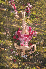 ROSA PEONIA (Pauline L photographe) Tags: pink flower nature girl rose fairytale countryside fineart fairy fantasy fe paradis fineartphotography balanoire peonia fineartphotographer