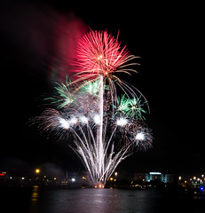 Fireworks (AnuragJajoo17) Tags: longexposure travel usa water colorful florida miami firework adventure explore burst crackers newyeareve