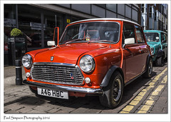 Classic Mini A46 HBC (Paul Simpson Photography) Tags: orange car classiccar mini lincolnshire lincoln vehicle motor 1980s parkedcar carshow classicmini prezzo photosof imageof photoof imagesof sonya77 paulsimpsonphotography spring2016 a46hbc