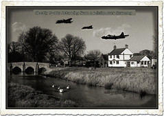 James Fyke's photo with Ghostly B-17s returning from a bombing mission - Aug 1943 (Faux) (Sarge-Jack) Tags: england pub b17 faux raf countryscene englishpubs rafalconbury