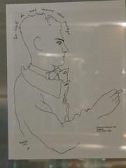 Dessin de Jean Cocteau, Restaurant Le Boeuf sur le toit (1922), 34 rue du Colise, Paris VIIIe (Yvette Gauthier) Tags: paris restaurant dessin jeancocteau peintre artdco champslyses crivain pote paris8 leboeufsurletoit