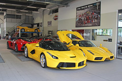 For Every Tastes. (Florian Joly Photography) Tags: red hot sexy cars girl yellow wow photography switzerland amazing geneva ferrari enzo lf florian modena dealer supercars v12 f50 f70 f60 2016 joly laferrari yellowenzo yellowf50