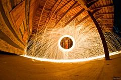 When steel burns (Sean Sebastian) Tags: light wool night dark painting fire photography nikon village outdoor kentucky steel creative explore burning after dslr sparks bardstown d7000 manuallensnocpu
