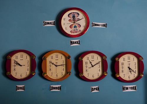 Clocks in Burao hotel - Somaliland