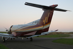 Rear Close up of  Pilatus Flugzeugwerke AG Pilatus  PC-12/47 G-WINT (Old Buck Shots) Tags: pilatus pc12 ag dm turboprop 830 singleengined pc1247 gwint pilatuspc1247 flugzeugwerke egsv airwinton pilatusflugzeugwerkeagpilatuspc1247gwint pilatusflugzeugwerkeag pilatuspc1247gwint cn830 n561gg