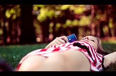 """They can take me anywhere I want. (Graldine Hofmaier) Tags: nyc blue trees newyork grass ipod dress bokeh centralpark headphones supernova geraldine redstripes blondhair geraldinesupernova imfrombarcelon hofmaier geraldinehofmaier prismographie prismography"