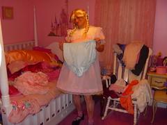Showing off my pretty panties. (Petticoat Brenda) Tags: pink cute panties princess cd laundry sissy crossdress showoff petticoat maryjaneshoes