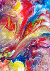 Abstract Art Fluid Painting (markchadwickart) Tags: blue red abstract color colour green art apple water yellow painting flow photo nikon warm paint artist mark vibrant vivid fluid mixing flowing colourful liquid rectangle mixture chadwick