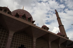 Putrajaya Mosque, Malaysia (Kasif Vision) Tags: travel flower bird history beach silhouette zoo monkey eagle minaret flames mosque motorbike malaysia kualalumpur langkawi putrajaya melaka batucaves malacca putrajayamosque masjidputra