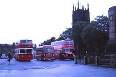 Buses on Ilkeston Market 1970 (Guy Arab UF) Tags: bus buses bedford coach place market felix derbyshire v trent 1958 barton regent sb 1959 ilkeston leyland 606 weymann aec yeates 1142 lowbridge atlantean cityofoxford pdr11 orc764 3xra 964cwl