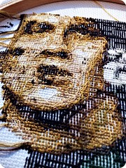 Kick-Ass WIP Back (stitchFIGHT) Tags: back crossstitch cross stitch embroidery wip marvel kickass xstitch