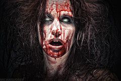 (michaeljosef) Tags: portrait woman girl lady dark hair dead death michael weird insane crazy scary blood eyes kill zombie headshot creepy gross killer josef horror deviant bloody scared bleeding bleed nasty gorey possession possessed devious cannibal michaeljosef