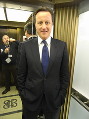 David Cameron - not Prime Minister yet - in a Broadcasting House lift (Steve Bowbrick) Tags: mirror lift politics bbc broadcastinghouse politician leader conservative tory stevebowbrick radio4 opposition bh selfy davidcameron womanshour