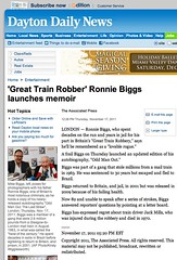 Dayton Daily News (Ronnie Biggs The Album) Tags: ronnie biggs greattrainrobbery oddmanout ronniebiggs ronaldbiggs