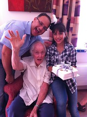 With Mike and Ingrid on his 82nd birthday (Ronnie Biggs The Album) Tags: ronnie biggs greattrainrobbery oddmanout ronniebiggs ronaldbiggs
