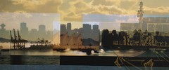 Golden City - Vancouver Skyline (Arts Off Main Gallery) Tags: canada art landscape photography artist originalart contemporary gift photomontage fineartphotography artisticphotography artprints creativephotography bcart photographyartistic photographyartist photographyandfineart bcartist photographersfineart artsoffmain