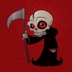 Little Reaper (John Schwegel) Tags: halloween angel dead skeleton death skull grim reaper cartoon evil sickle vector grimreaper scythe