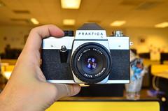 Hi, new old camera! (spieri_sf) Tags: camera görlitz l praktica gdr flickrhq kamera eastgermany meyeroptik techstartup foursquare:venue=4b144582f964a5204aa023e3