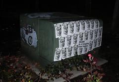 Ghosts in the Night - Portland, Oregon (SKAM sticker) Tags: street streetart oregon portland sticker stickerart nightshot time pdx ghosts slap nite crushed rx tagger hetch skam 2011 inthenight stickerartists skamsticker slaptagger rxskulls naughtyslaptagger homiestotheleft homiestotheright