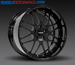 FORGELINE DE3P MATTE BLACK CENTERS / GLOSS BLACK OUTER LIPS (WheelsPerformance) Tags: black wheels lips gloss outer forged matte centers forgeline de3p wheelsperformance