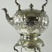 4027. Antique Silverplate Tea Kettle on Stand