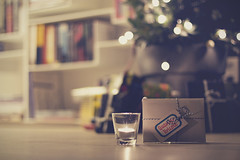 Christmas (Mathijs Delva) Tags: christmas reflection lights candle bokeh christmastree presents 50mmf14