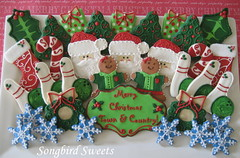 Bowling Christmas Cookies (Songbird Sweets) Tags: santa christmas stockings snowflakes presents bowling christmastrees wreaths sugarcookies candycanes gingerbreadwomen songbirdsweets
