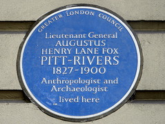 Photo of Augustus Henry Lane Fox Pitt-Rivers blue plaque