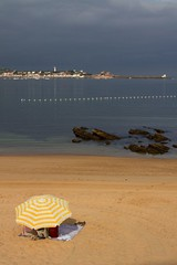 on the beach of Saint Jean de Luz (emm77) Tags: sea mer parasole