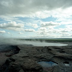 Haukadalur (Geysir), Iceland. (Matt Benton) Tags: square iceland geyser sqa haukadalur bronicasqa