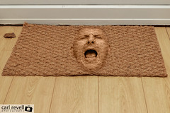 Do You Sometimes Feel Like a Doormat? (Sprogz) Tags: man face scream 365 doormat 2011 walkover 362 project365 365project wipefeet 2011inphotos 2470mm
