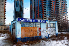 Last Man Standing (Book'em) Tags: urban toronto abandoned buildings construction demolition karate fujifilm taichi x10