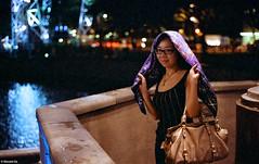 At Clarke Quay (The91) Tags: leica light portrait color film night zeiss scarf 50mm singapore quay negative eleanor 800 m2 solaris clarkequay planar wy leicam2 carlzeiss fgplus carlzeissplanart250