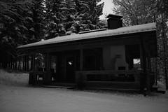 (eeviko) Tags: winter bw white snow black finland grey december finnish talvi sauna joulukuu canoneos450d puusauna 6122011