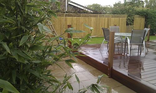 Hardwood Decking Alderley Edge - Modern Family Garden. Image 19