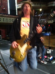 Tim at soundcheck