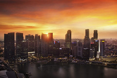 Singapore Marina Bay (chiaroscuro) Tags: city sunset singapore asia asean marinabay marinabaysands