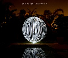 Light Orb...Take Two... (Craig Pitchers) Tags: longexposure light reflection night dark nikon f14 sphere nightime ord 15mm playingwithlight lightsphere lightorb 1024mm d7000 nikond7000