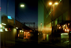 night train passing (frzw) Tags: lomo artlibre overlappingnegatives